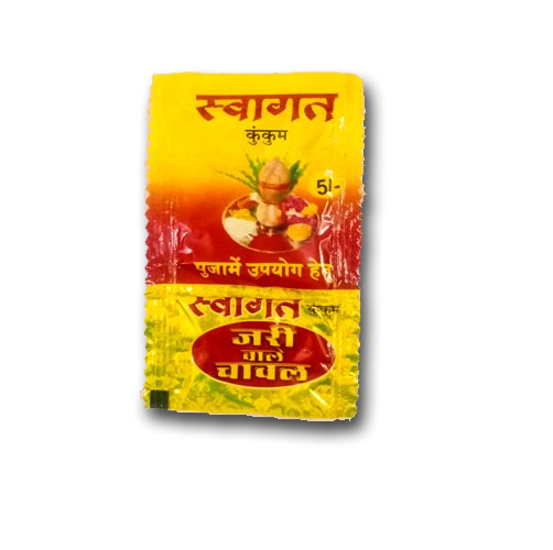swagat chawal kumkum pouch 5rs  pack
